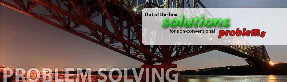 Out of the box solutions for non-convention problems